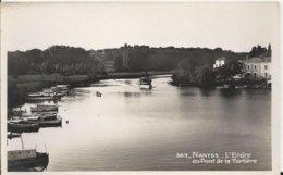 Carte Postale Ancienne Glacee De Nantes L'Erdre Au Pont De La Tortière - Nantes