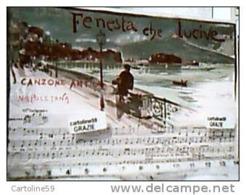 NAPOLI MUSICALE FENESTA CHE LUCIVE ILLUSTRATA SCOPETTA Cartolina Musicale BIDIERI N1910  HF1210 PERFETTA - Musica E Musicisti