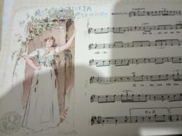 NAPOLI MUSICALE A PICCIOTTA  Di DE CURTIS  ILLUSTRATA SCOPETTA Cartolina Musicale BIDIERI N1910  HF1211 PERFETTA - Musica E Musicisti