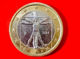 ITALIA - 2014 - Moneta - Leonardo Da Vinci, Proporzioni Ideali Del Corpo Umano - Euro - 1.00 - Italia