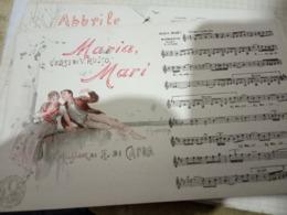 NAPOLI MUSICALE MARIA MARI Musica DI CAPUA  ILLUSTRATA SCOPETTA Cartolina Musicale BIDIERI N1910  HF1215 PERFETTA - Musica E Musicisti