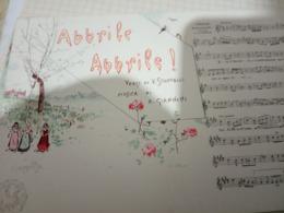 NAPOLI MUSICALE ABBRILE ABBRILE Musica  G GIANNIN  ILLUSTRATA SCOPETTA  Cartolina Musicale BIDIERI N1910 HF1217 PERFETTA - Musica E Musicisti