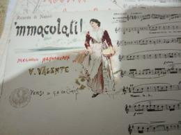 NAPOLI MUSICALE MMACULATI Musica  VALENTE ILLUSTRATA SCOPETTA  MELE CONFEZIONI MAGAZZINI  N1910 HF1218 PERFETTA - Musica E Musicisti