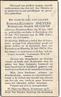 Strombeek-Bever, Kortenberg, 1943, Barbara Sneyers, De Coster - Images Religieuses