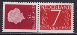 1964 Combinatie 15 + 7 Ct Links Ongetand Uit PB 1 NVPH C 7 Postfris - Carnets Et Roulettes