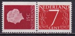 1964 Combinatie 15 + 7 Ct Rechts Ongetand Uit PB 1 NVPH C 8 Postfris - Carnets Et Roulettes