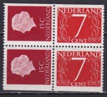 1964 Combinatie 2 X 15 + 2 X 7 Ct Uit PB 1 NVPH C 9 Postfris - Carnets Et Roulettes