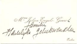 Visitekaartje - Carte Visite - Mme Julien E,gels - Geers - Eecloo - Eeklo - Cartes De Visite