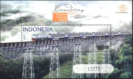 Mint S/S  Train, Bridge 2013  From Indonesia - Treinen