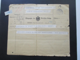 Deutsches Reich 1915 Telegramm / Telegraphie Des Deutschen Reichs Aus Laugszargen Kreis Tilisit !! Heute Litauen!! - Allemagne