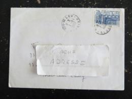 SAINT LEU - REUNION - CACHET ROND MANUEL SUR YT 2471 ARCHITECTURE MODERNE 57 METAL BOULOGNE BILLANCOURT EUROPA - Marcophilie (Lettres)