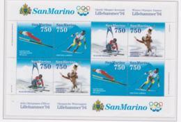 San Marino 1994 Olympic Games Lillehammer Souvenir Sheet MNH/** (LAR-H58) - Winter 1994: Lillehammer