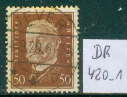 DR 1928  MiNr.  420       O / Used  (L748) - Allemagne