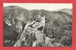 """C.P.S.M.format CPA( 66 ) """" Environs De Vernet-les-Bains """"  CASTEIL Abbaye De St-Martin-du-Canigou .X 2 Photos - Autres Communes"""