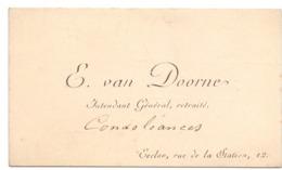 Visitekaartje - Carte Visite - E. Van Doorne - Eecloo - Eeklo - Cartes De Visite
