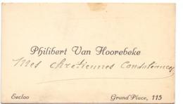 Visitekaartje - Carte Visite - Philibert Van Hoorebeke - Eecloo - Eeklo - Cartoncini Da Visita