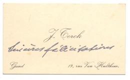 Visitekaartje - Carte Visite - J. Torck - Gand Gent - Cartoncini Da Visita