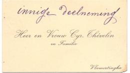 Visitekaartje - Carte Visite - Heer & Vrouw Cyr. Thévelin - Vlamertinge - Cartes De Visite