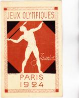 CPA - 75 - PARIS - ENTIER POSTAL JEUX OLYMPIQUES 1924 - Le Lancer Du Javelot, Timbre Pasteur 15c Neuf Au Verso - RARE - Postal Stamped Stationery