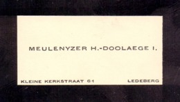 Visitekaartje - Carte Visite - Meulenyzer - Doolaege - Ledeberg - Cartes De Visite