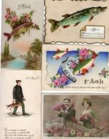 BEAU LOT DE  20 CPA   -  1er AVRIL - Poissons D'Avril - - Erster April