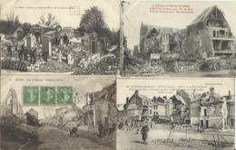 8343 Lot De 10 CPA Villes Et Villages Bombardés - Guerra 1914-18