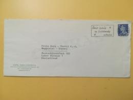 1963 BUSTA INTESTATA DANIMARCA DENMARK BOLLO RE FEDERICO FREDERICK IX ANNULLO OBLITERE' COPENAGHEN ETICHETTA - Danimarca