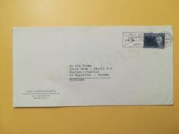 1964 BUSTA INTESTATA DANIMARCA DENMARK BOLLO NIELS BOHRS ANNULLO OBLITERE' COPENAGHEN ETICHETTA - Danimarca