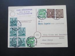 Alliierte Besetzung 23.6.1948 Ganzsache / Zehnfach Frankatur MiF Ziffer / Arbeiter Social Philately Lupold Von Abercron - Zona AAS
