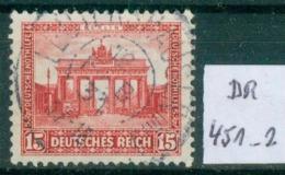 DR 1930  MiNr.  451     O / Used  (L758) - Oblitérés