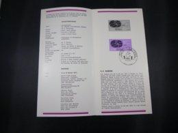 BELG.1977 1838 Feuillet Philatélique De La Poste ,avec Premier Jour Cachet Sur Timbre (Liege) - FDC