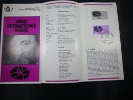 BELG.1977 1838 Feuillet Philatélique De La Poste ,avec Premier Jour Cachet Sur Timbre (Elewijt) - FDC