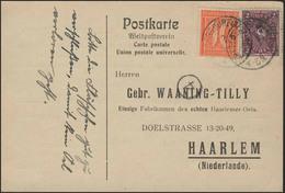 Posthorn 2 Mark Und Ziffer 40 PF MiF PK Haarlemer Oel Dittersdorf/Dresden 2.6.22 - Deutschland