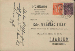 Posthorn 2 Mark Und Ziffer 40 PF MiF PK Haarlemer Oel Dittersdorf/Dresden 2.6.22 - Germania