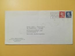1967 BUSTA INTESTATA DANIMARCA DENMARK BOLLO RE FEDERICO IX FREDERICK ANNULLO OBLITERE' COPENAGHEN ETICHETTA - Danimarca
