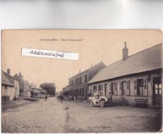 CPA - 80 - CHAULNES (Somme) - Rue Lhomond Vers 1910 - Belle Voiture Automobile Décapotable Avec Femme Au Volant - RARE - - Chaulnes