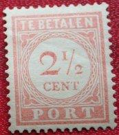 Port Postage Due 2 1/2 Ct NVPH P24 1914 1913-1940 Ongebruikt / MH NEDERLAND INDIE / DUTCH INDIES - India Holandeses