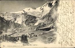 Cp Saas Fee Kanton Wallis, Ort Mit Umgebung, Gebirge - VS Valais