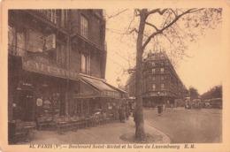 75 Paris 5e Arrondissement Boulevard Saint Michel Et Gare Du Lexembourg Café Tabac Brasserie Au Depart - Distretto: 05