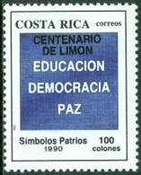 COSTA RICA 1992 LIMON CENTENARY OVERPRINT** (MNH) - Costa Rica