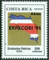 COSTA RICA 1991 NATIONAL PHILATELIC EXPO OVERPRINT** (MNH) - Costa Rica