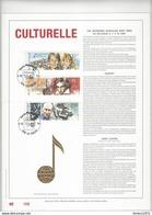 Feuillet D'art Tiré Sur Presse à Main Nr 105 Met Zegels Nr 2387-89 - Belgique