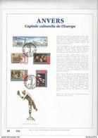 Feuillet D'art Tiré Sur Presse à Main Nr 054 Met Zegels Nr 2495-99 - Belgique