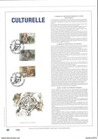 Feuillet D'art Tiré Sur Presse à Main Nr 100 Met Zegels Nr 2465-67 - Oblitérés