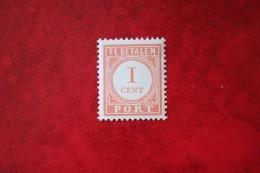 Port  Postage Due 1 Ct  NVPH P23 1913-1940 Ongebruikt / MH NEDERLAND INDIE / DUTCH INDIES - India Holandeses
