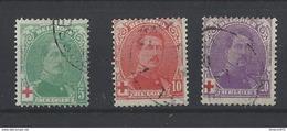 Nr 132-34 Gestempeld - 1914-1915 Croix-Rouge