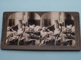 Ghastly Glimpse Of WOUNDED Belgians In Hospital ANTWERP Belgium ( Stereo Photo / Keystone V18817 ) Copyright Underwood ! - Stereoscoop