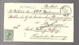 1883 NEDERWEERT > Weert > Semarang G.F.L. Hartmann Houtkap Penowangan To Borangan Halte Karon Patjing (FK-67) - Lettres & Documents