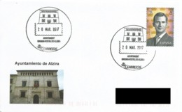 SPAIN. POSTMARK CITY HALL ALZIRA. 2017 - España