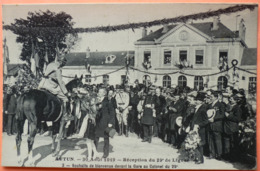 CARTE AUTUN - 30 AOUT 1919 - RECEPTION DU 29ème DE LIGNE - N° 3 -SCAN RECTO/VERSO -10 - Autun